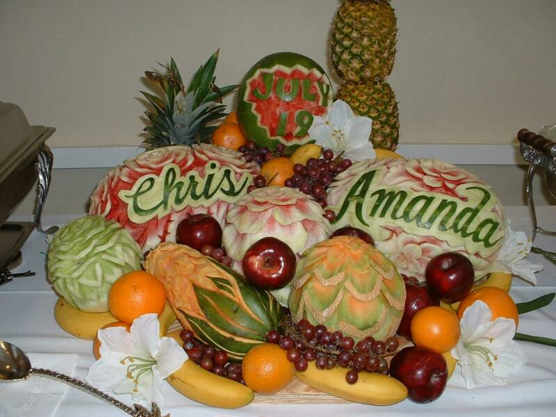 Simple vegetable carvings with theme best carlos